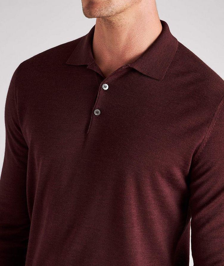 Long-Sleeve Wool Knit Polo image 3