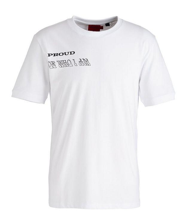 Pride Slogan Cotton T-Shirt picture 1