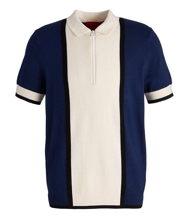 Sholono Knit Cotton-Silk-Blend Polo picture 1