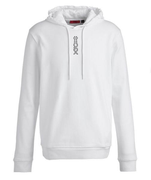 HUGO Logo Cotton Hoodie