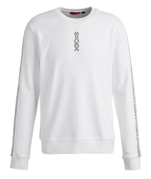 HUGO Logo Cotton Crew Neck Sweatshirt