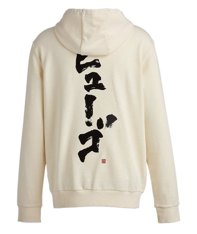 Calligraphy Printed Cotton Hoodie picture 3