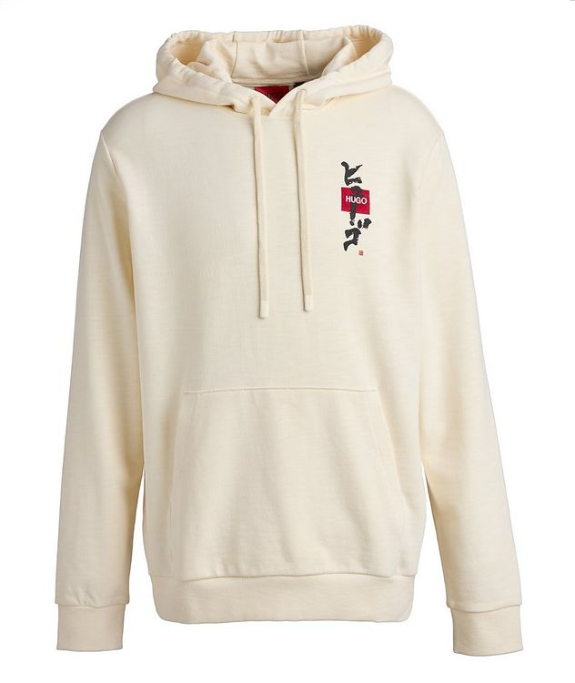 Calligraphy Printed Cotton Hoodie picture 1