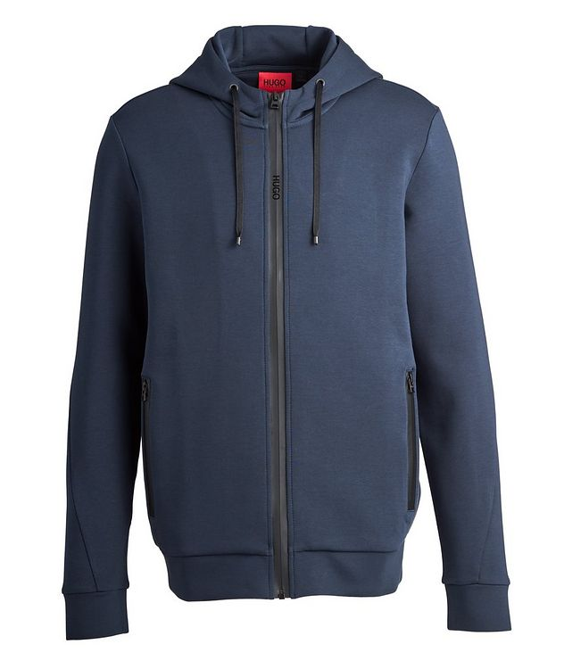 Zip-Up Cotton-Blend Hoodie picture 1
