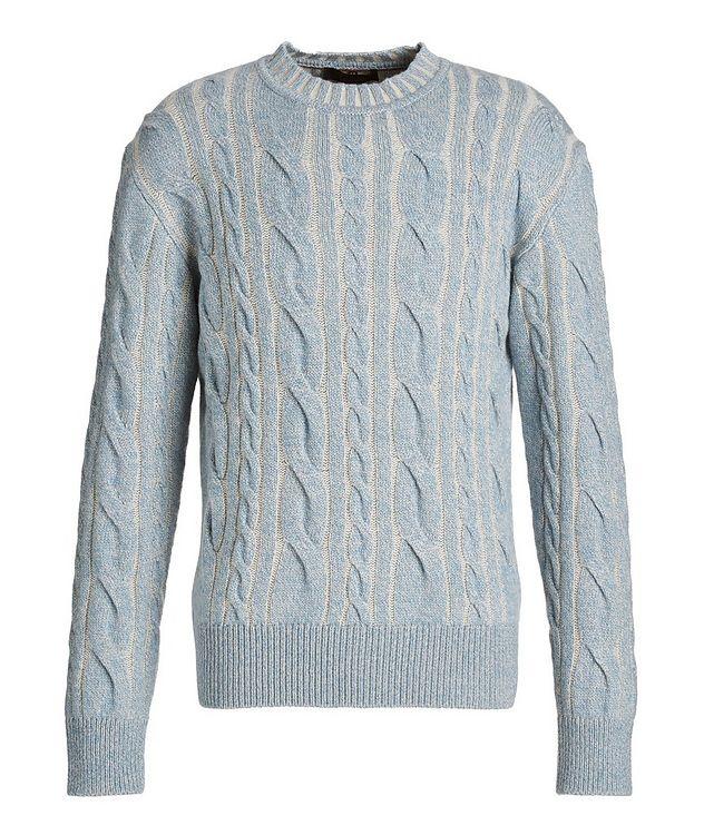 Mélange Cashmere Cable Knit Sweater picture 1