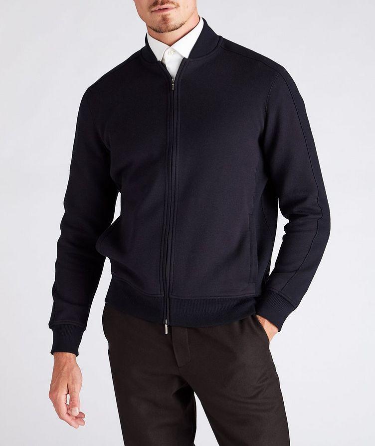 Silk, Cashmere & Cotton Bomber Jacket image 1