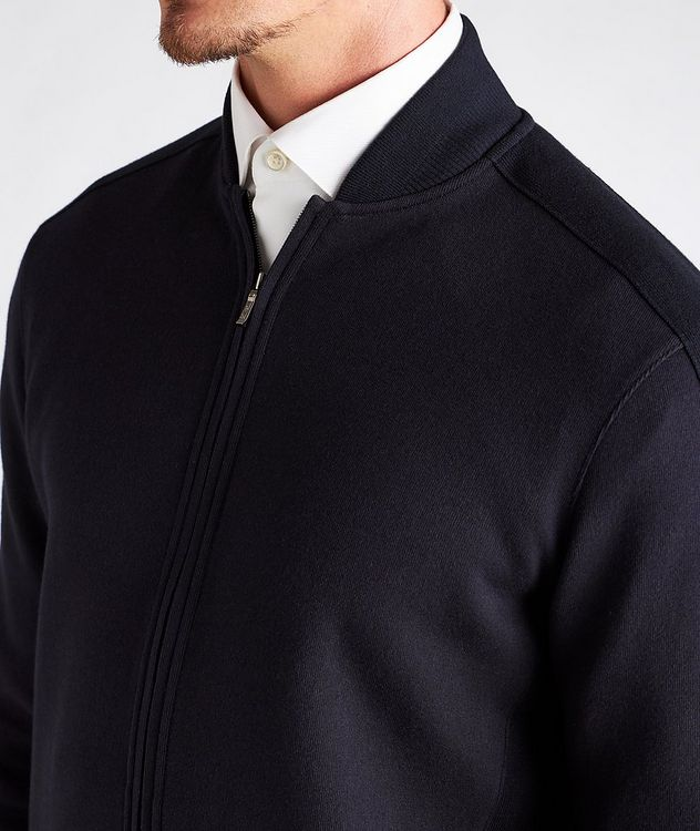 Silk, Cashmere & Cotton Bomber Jacket picture 4