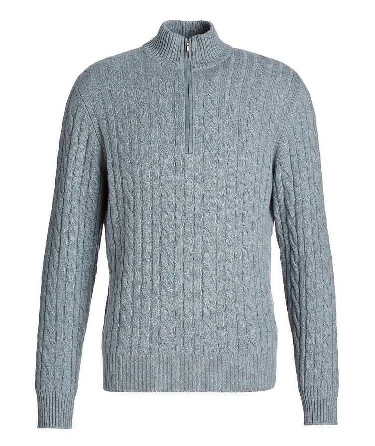 Half-Zip Cashmere Knit Sweater image 0