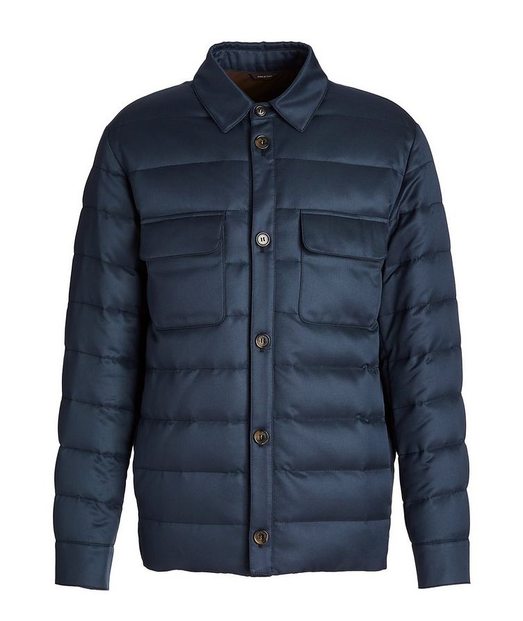 Water-Repellent Silk Down Overshirt Jacket image 0