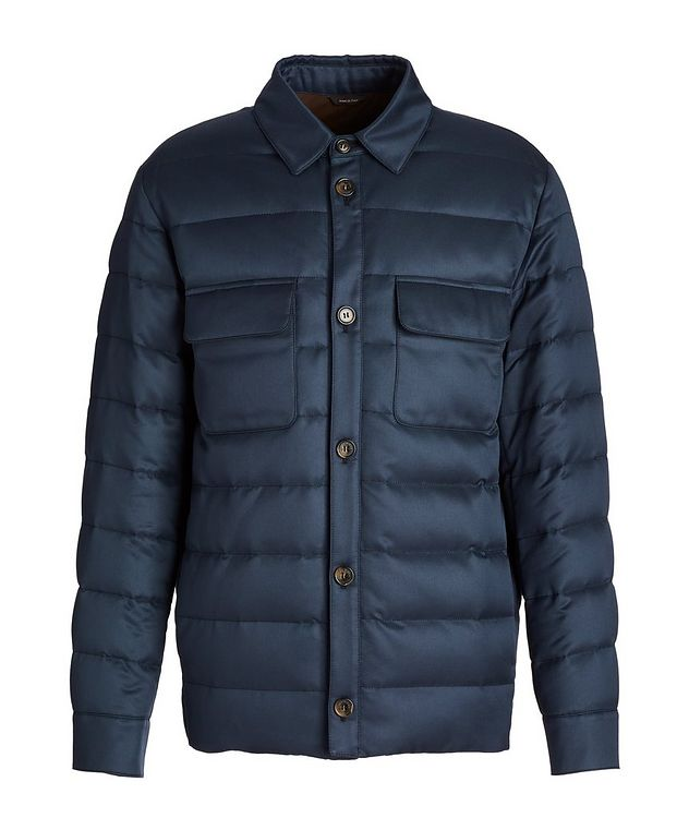 Water-Repellent Silk Down Overshirt Jacket picture 1
