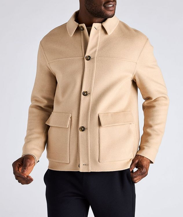 Brent Baby Camel Water-Repellent Overshirt Jacket picture 2