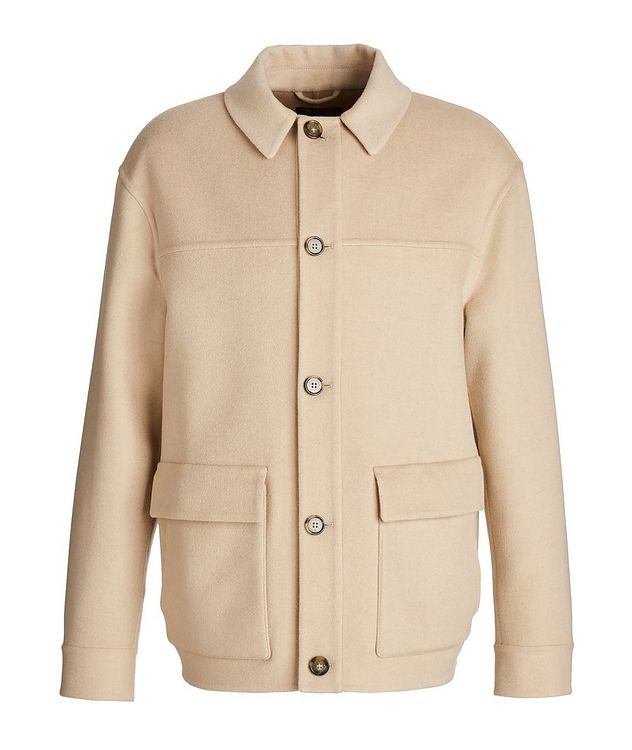 Brent Baby Camel Water-Repellent Overshirt Jacket picture 1