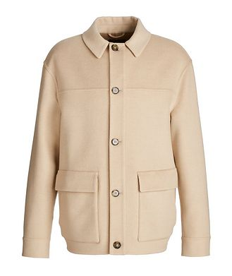 Loro Piana Brent Baby Camel Water-Repellent Overshirt Jacket
