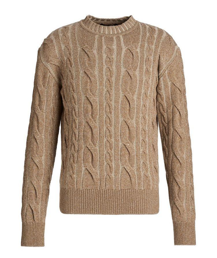 Mélange Cashmere Cable Knit Sweater image 0