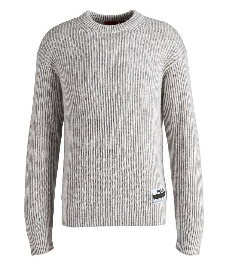 Wool-Alpaca-Blend Ribbed Sweater image 0