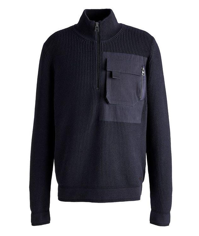 Squato Half-Zip Cotton-Wool Sweater picture 1