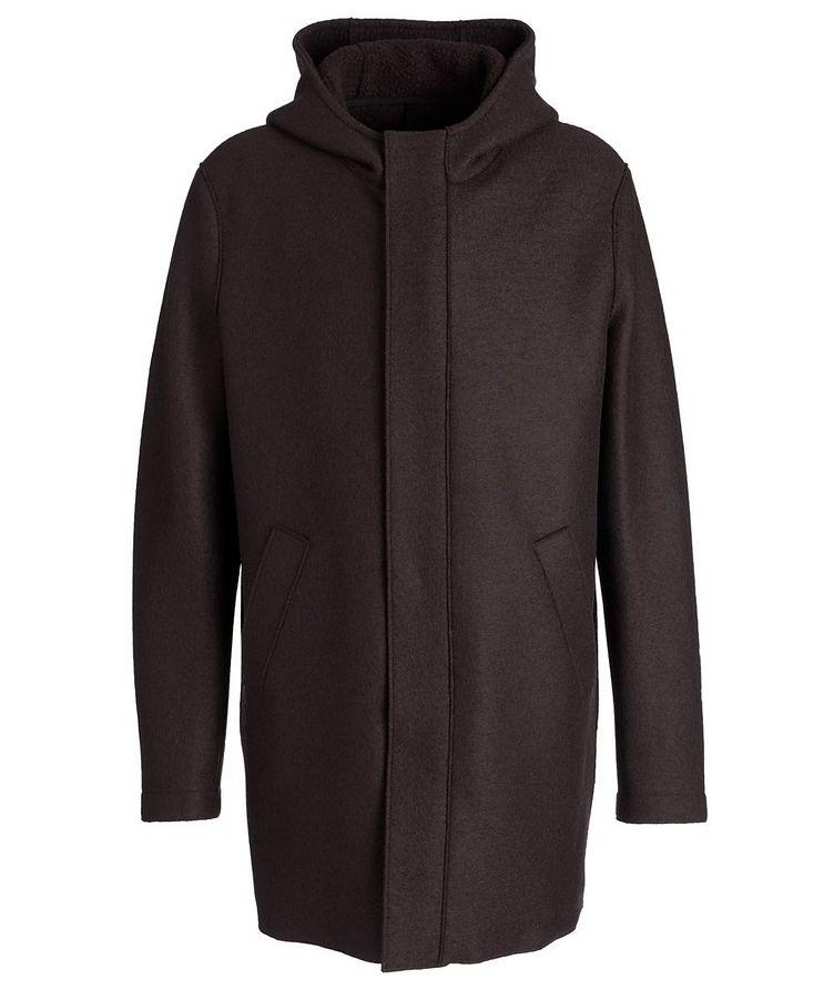Faux Fur Wool Hooded Sherpa Parka  image 0