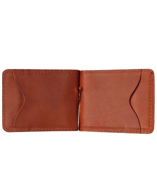 Slim Leather Wallet With Money Clip  picture 3