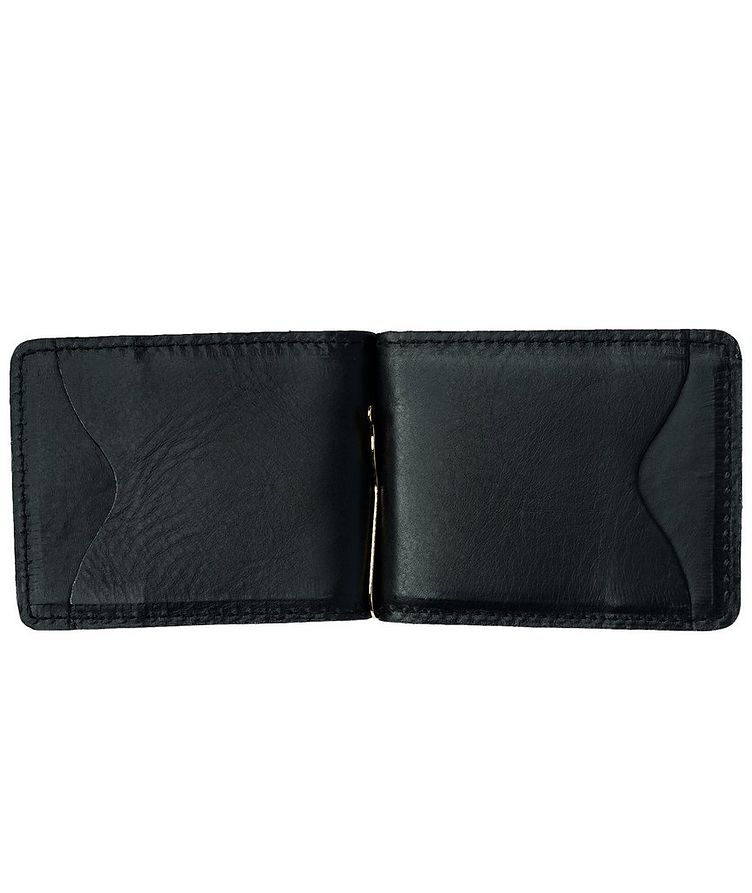 Slim Leather Wallet With Money Clip  image 2