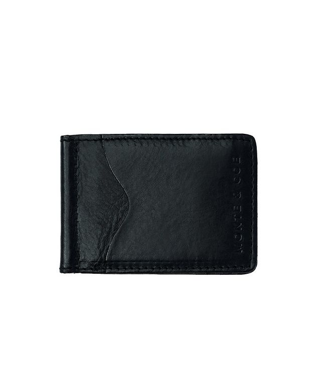 Slim Leather Wallet With Money Clip  picture 1