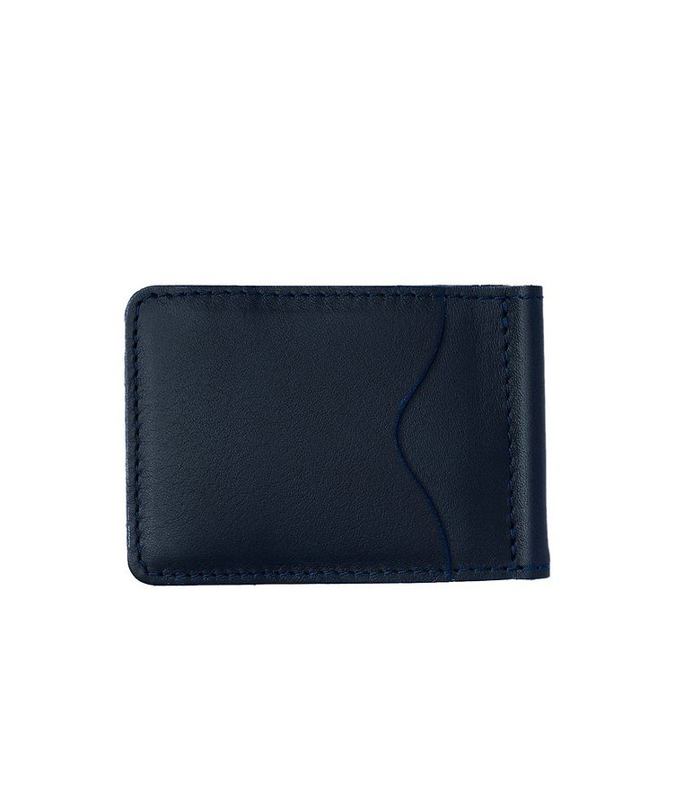 Slim Leather Wallet With Money Clip image 1