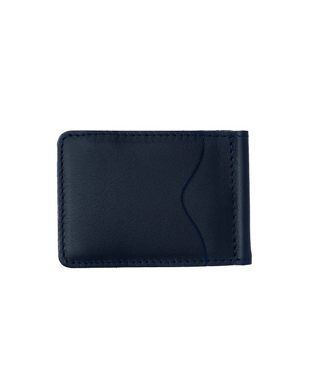 Slim Leather Wallet With Money Clip picture 2