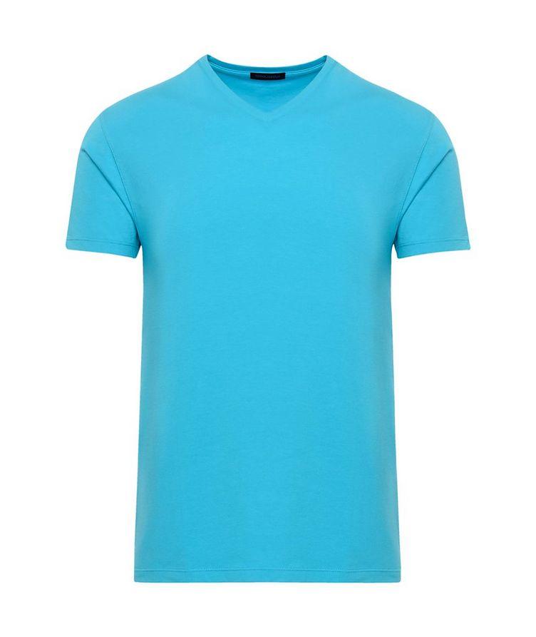 Stretch-Pima Cotton V-Neck T-Shirt image 0
