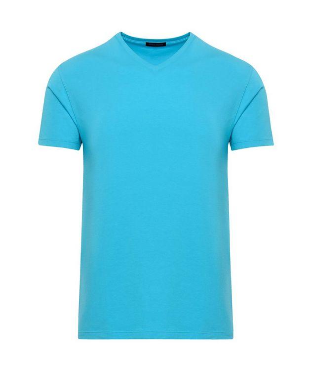 Stretch-Pima Cotton V-Neck T-Shirt picture 1