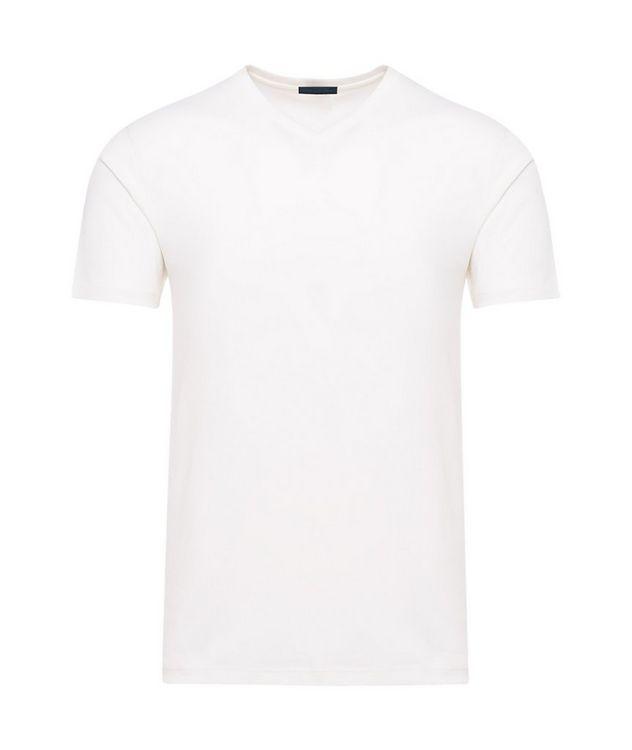 V-Neck Silk-Cotton T-Shirt picture 1