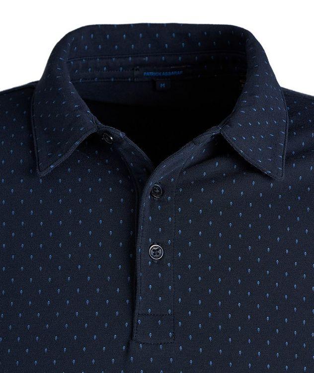 Polo en coton pima extensible à motif pointillé picture 2