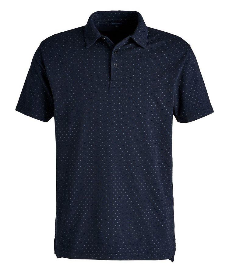Polo en coton pima extensible à motif pointillé image 0