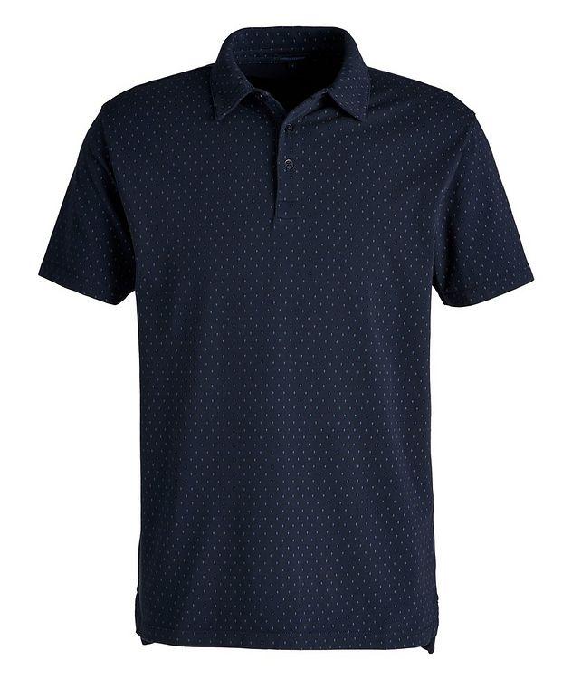 Polo en coton pima extensible à motif pointillé picture 1