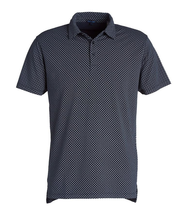 Printed Stretch-Cotton Polo image 0