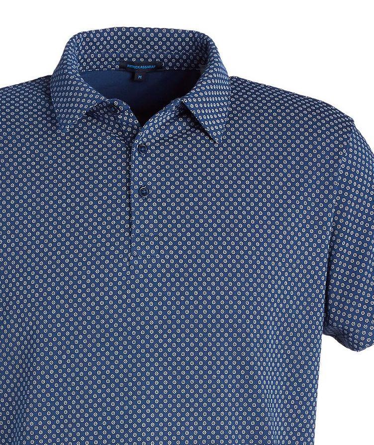Printed Stretch-Cotton Polo image 1