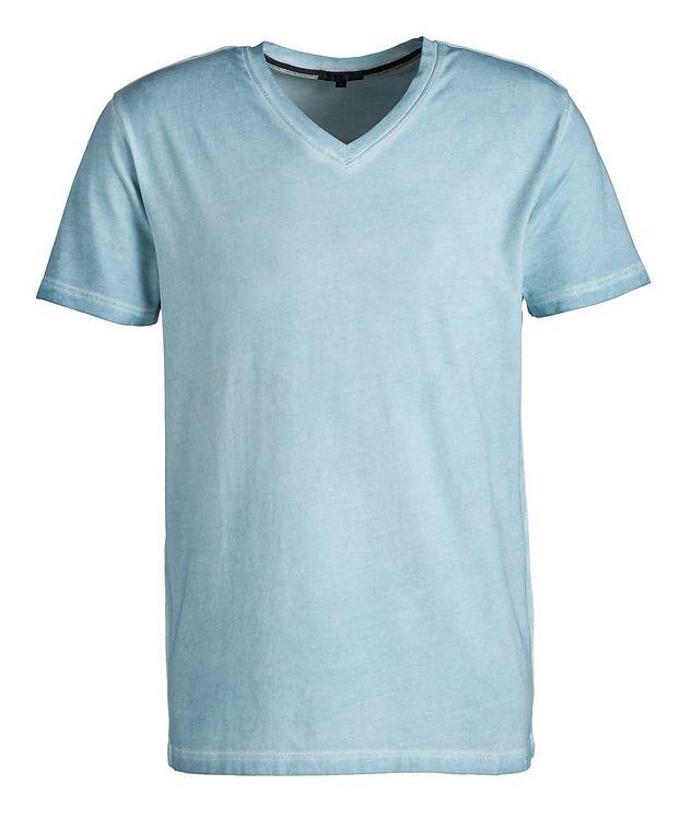 T-shirt en coton extensible à encolure en V picture 1