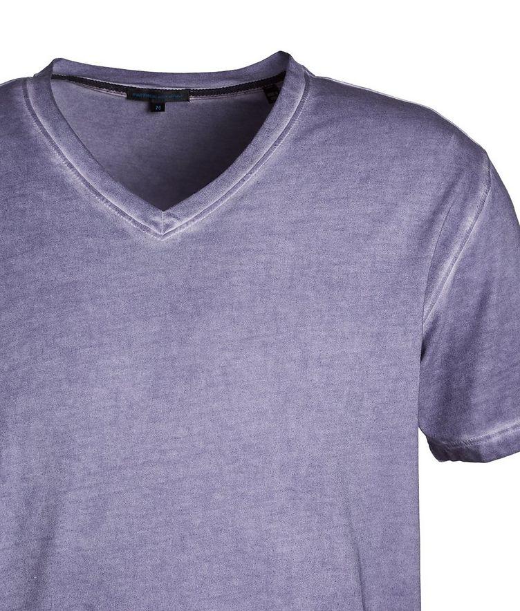 V-Neck Stretch-Cotton T-Shirt image 1