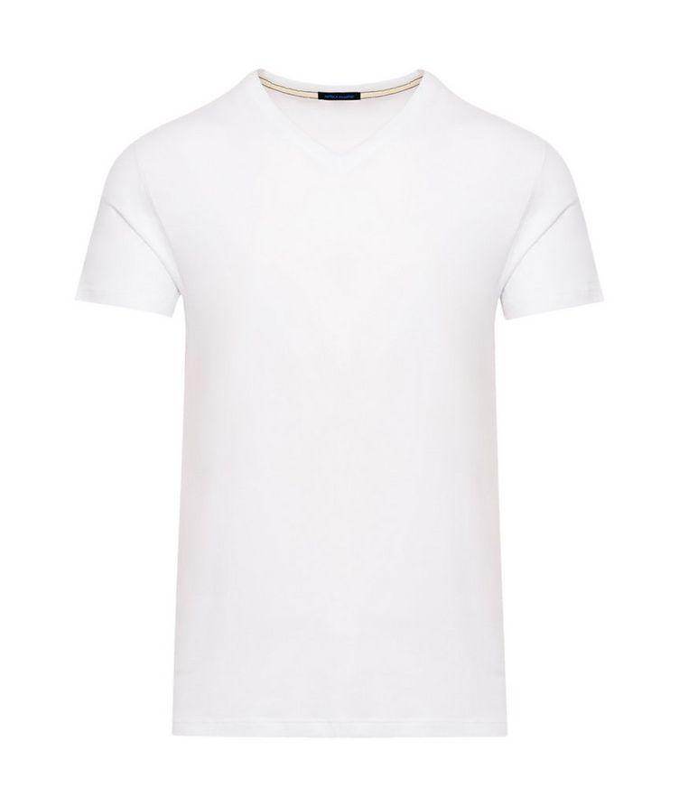 V-Neck Stretch-Cotton T-Shirt image 0