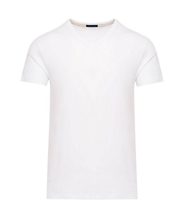 V-Neck Stretch-Cotton T-Shirt picture 1