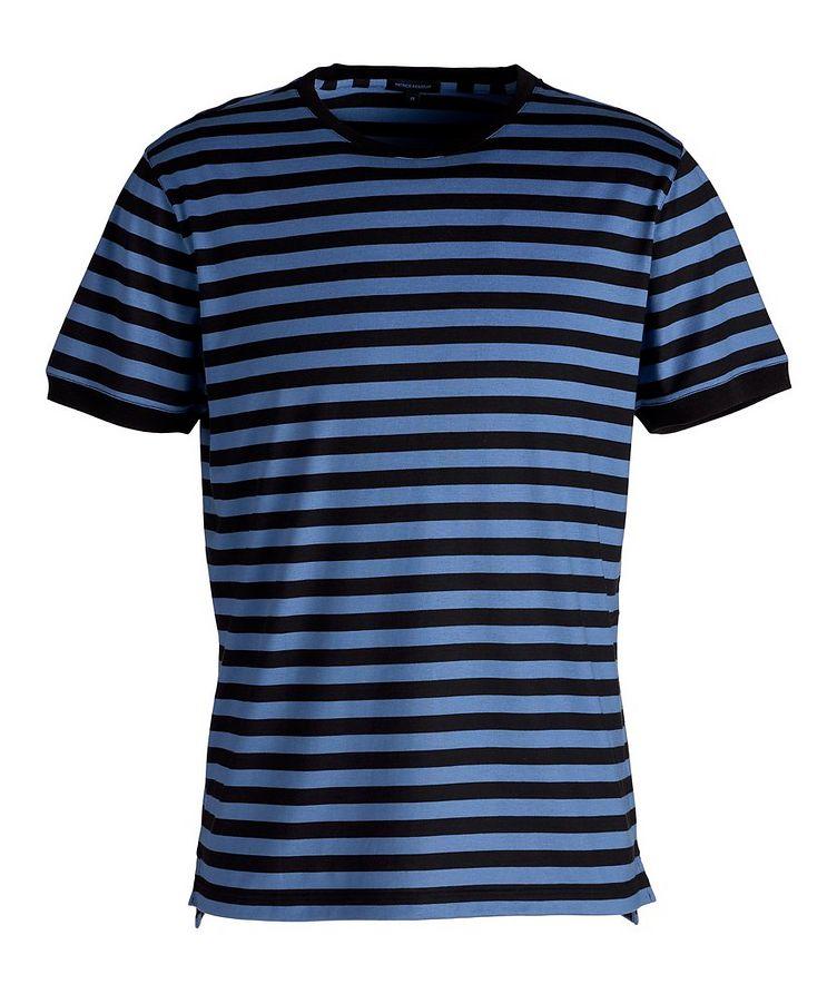 Striped Silk-Cotton T-Shirt image 0