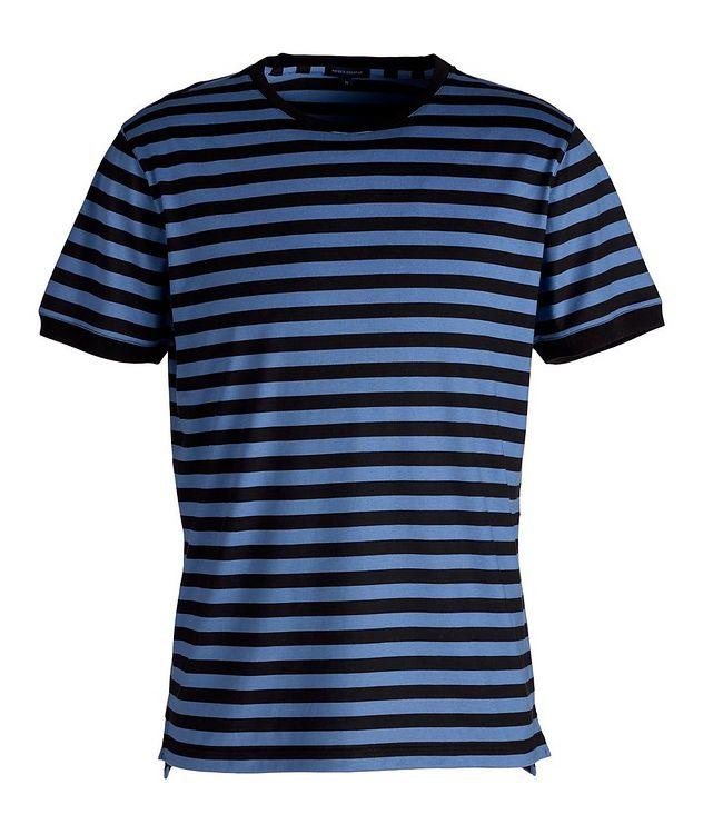 Striped Silk-Cotton T-Shirt picture 1