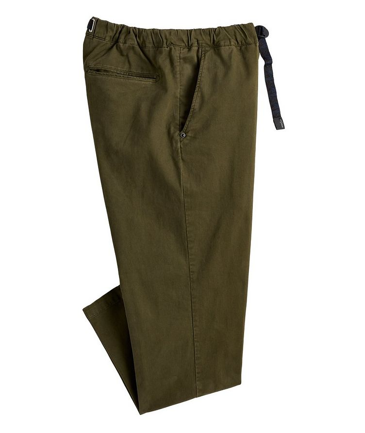 Stretch-Cotton Belted Travel Pants image 0