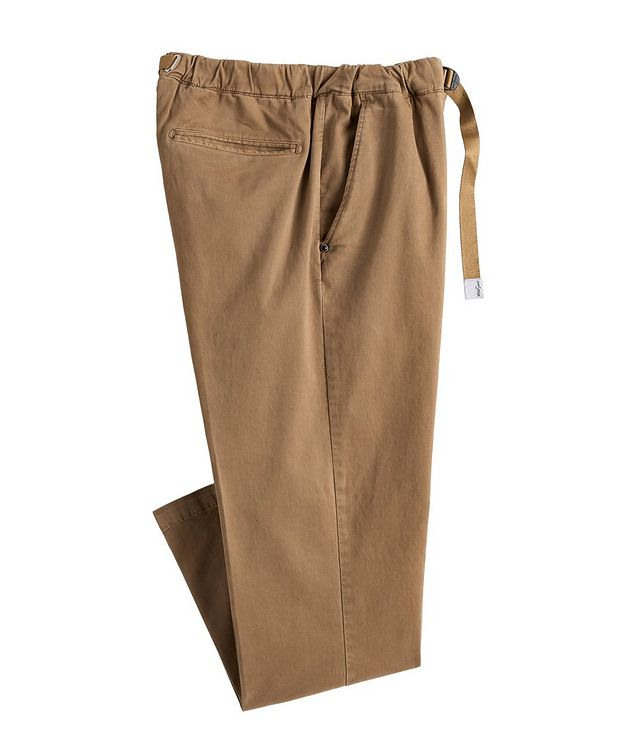 Stretch-Cotton Belted Travel Pants picture 1