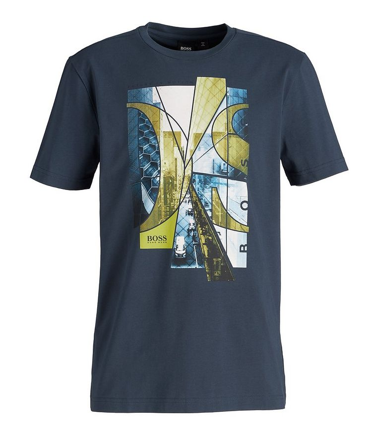 City Streets Printed Cotton-Blend T-Shirt image 0