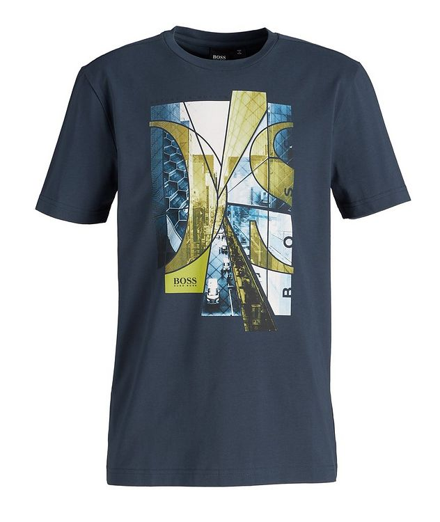 City Streets Printed Cotton-Blend T-Shirt picture 1