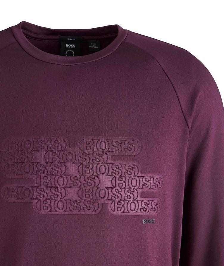 Long-Sleeve Logo Cotton-Blend T-Shirt image 1