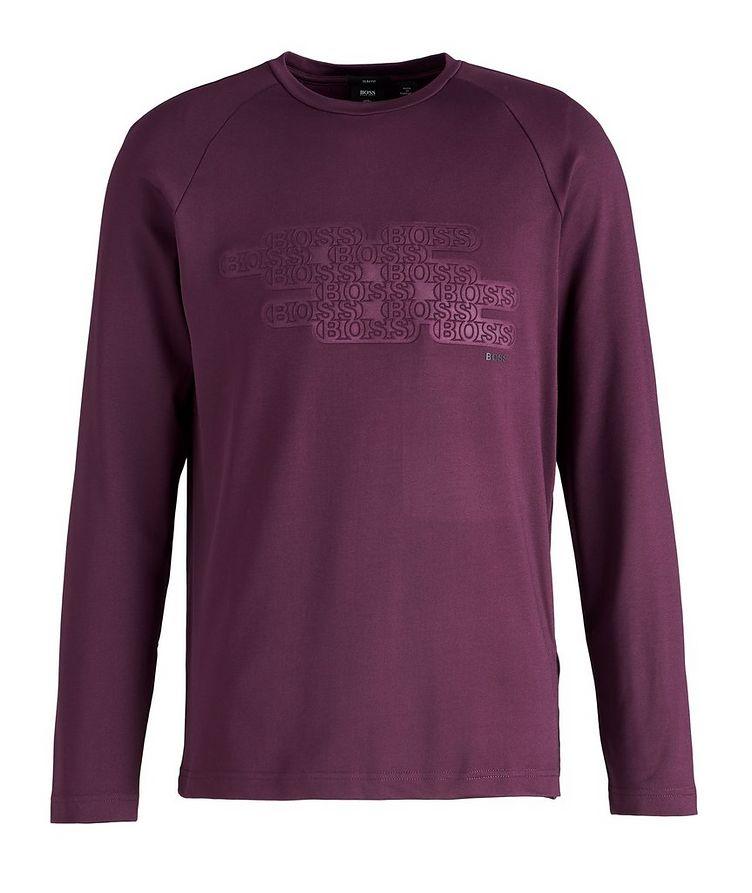 Long-Sleeve Logo Cotton-Blend T-Shirt image 0