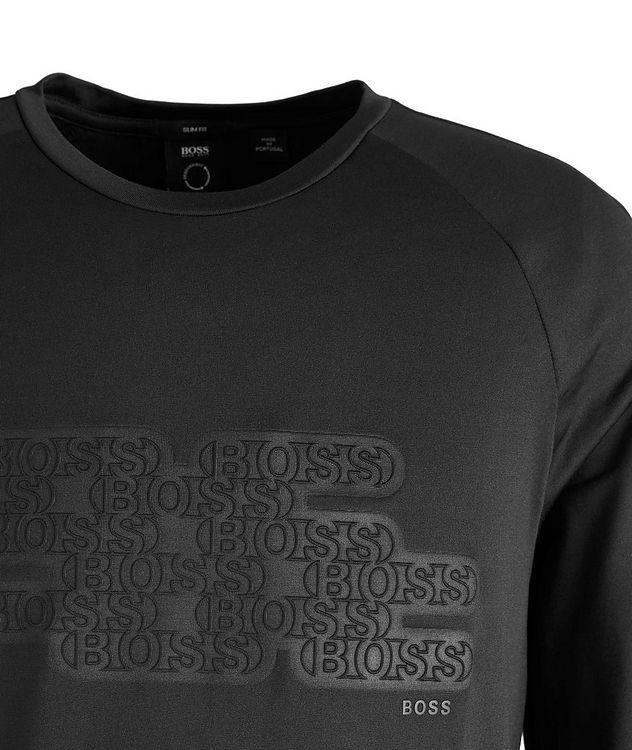 Long-Sleeve Logo Cotton-Blend T-Shirt picture 2