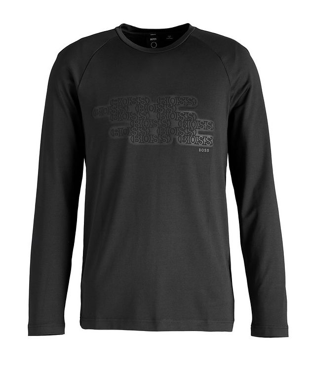 Long-Sleeve Logo Cotton-Blend T-Shirt picture 1