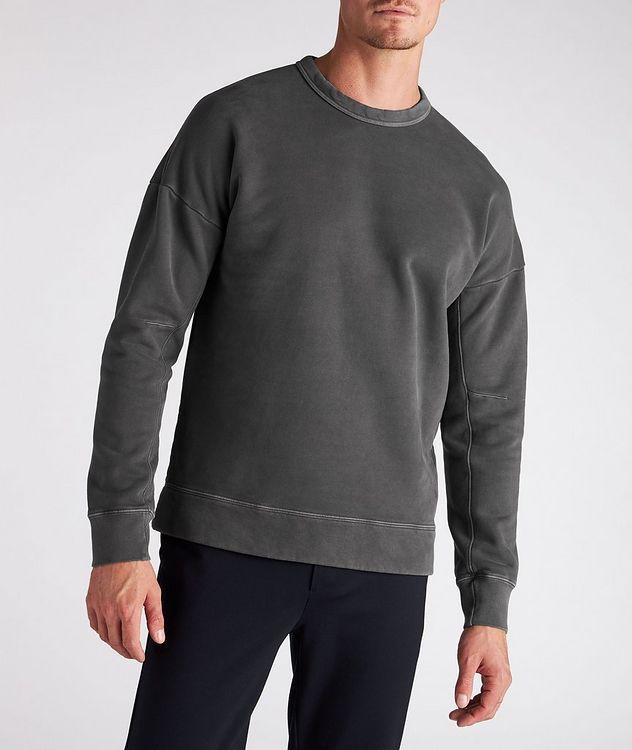 Cotton Knit Crew Neck Sweatshirt picture 2