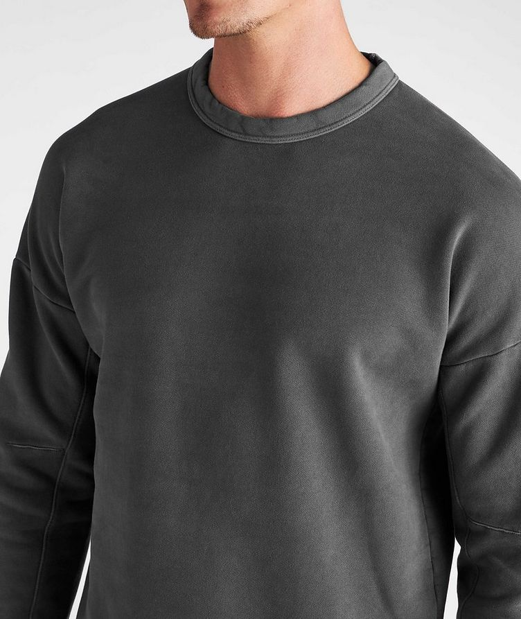 Cotton Knit Crew Neck Sweatshirt image 3